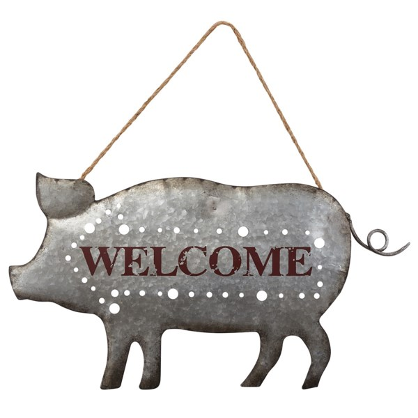 Welcome Pig Wall Decor