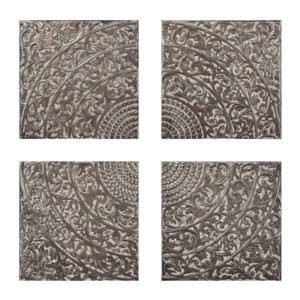 Kashion Gray Wall Tiles - Set of 4