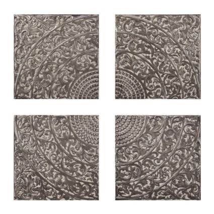 Kashion Gray Wall Tiles - Set of 4