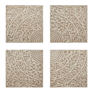 Kashion Cream Wall Tiles - Set of 4