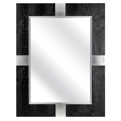 Loyd Black Faux Leather Mirror