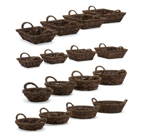 Noir Baskets - Set of 4, Ast 4