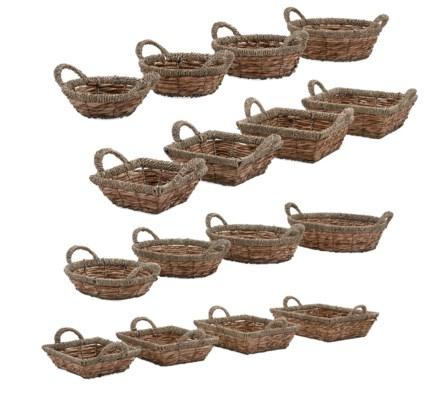 Natura Baskets - Set of 4, Ast 4