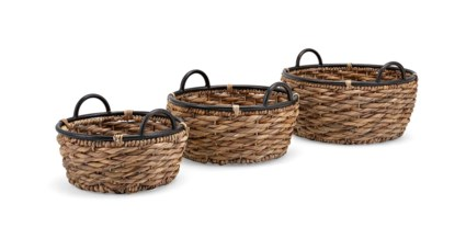 Hoop and Handle Baskets - Set of 3