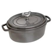 Staub Cast Iron 5.75 qt Coq au Vin Cocotte - Graphite Grey