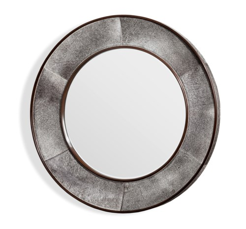 Interlude Home - Irina Round Mirror - Grey