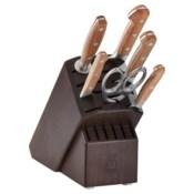 Zwilling J.A. Henckels Pro Holm Oak 7-piece Knife Block Set - Walnut Block