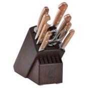 Zwilling J.A. Henckels Pro Holm Oak 10-piece Knife Block Set - Walnut Block
