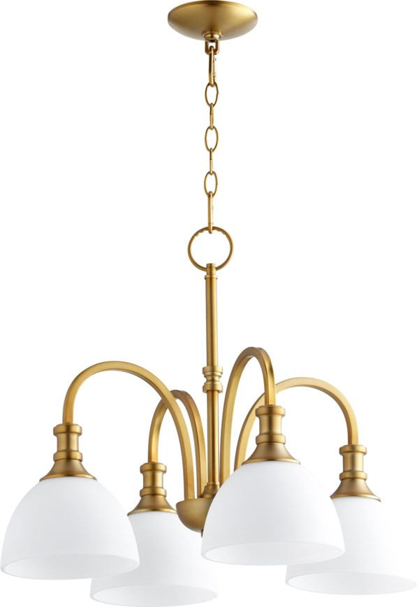 Quorum International Richmond Transitional 4 Light Nook In Aged Brass Finish