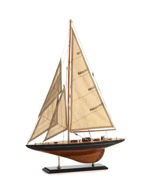 Zodax 28-Inch Tall Murano Wooden Sailboat Model