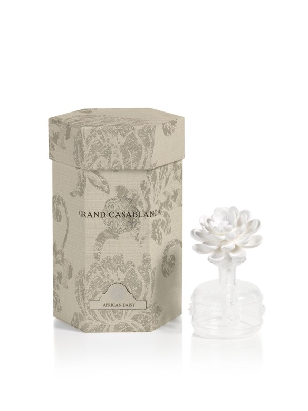 Zodax Mini Grand Casablanca Porcelain Diffuser, African Daisy