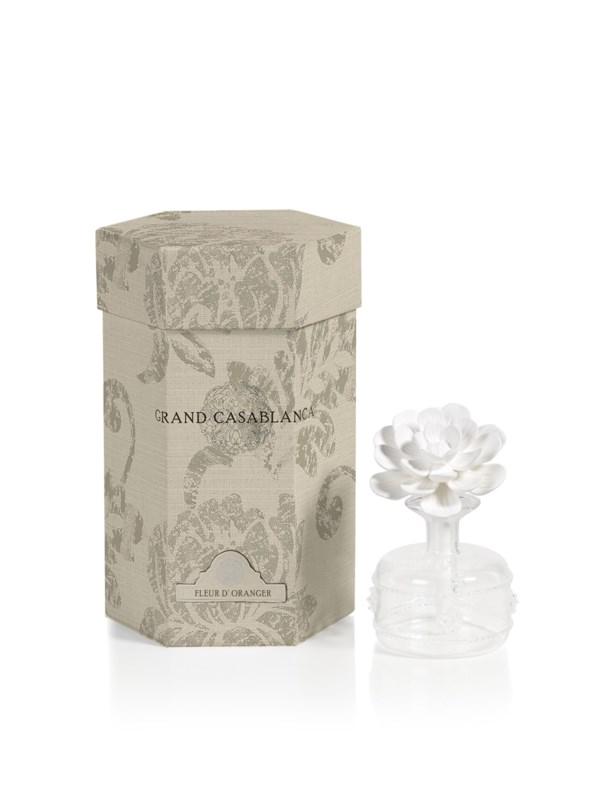 Zodax Mini Grand Casablanca Porcelain Diffuser, Fleur d'Oranger