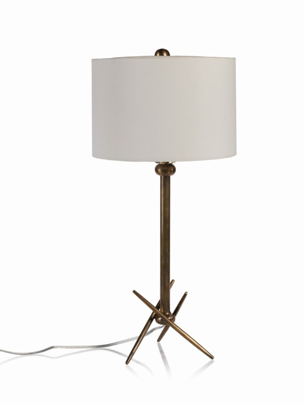 Zodax 16-Inch Tall Palma Brass Table Lamp