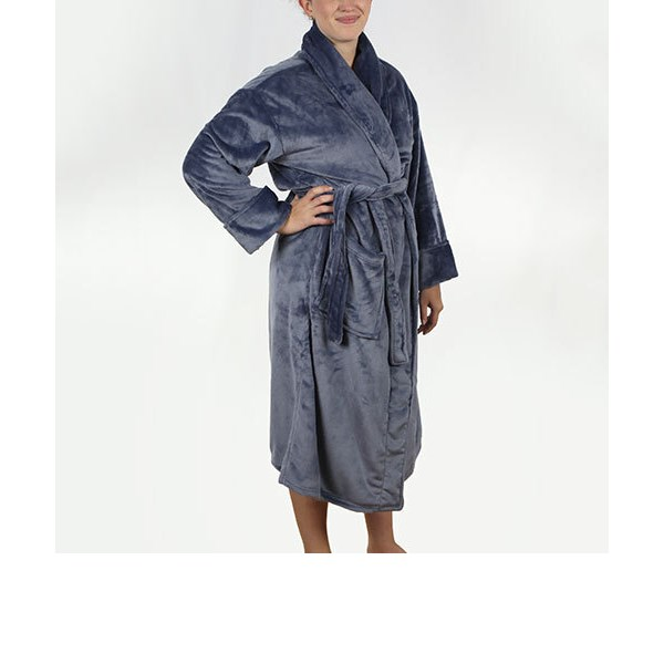 Bedford Cottage - Spa Robe Blue - One Size Fits Most