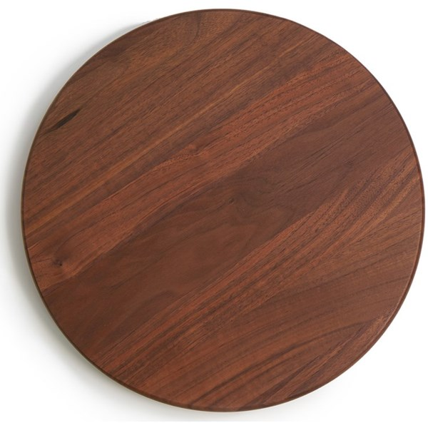 "JK Adams 14"" Walnut Lazy Susan with Clear Finish"