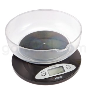 AWS 2K-BOWL 2000g x 1g Kitchen Scales