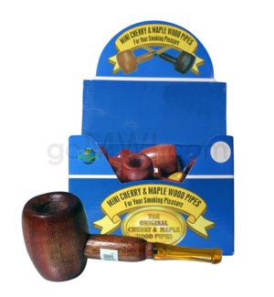 "3-3.5"" Pipe Mini Maple & Cherry Wooded 36ct"