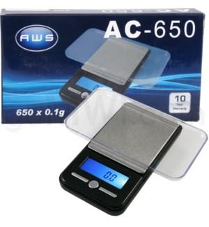 AWS AC-650 650g x 0.1g Pocket Scales