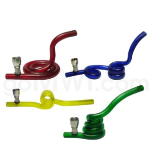 Acrylic Pipe Curlys asst. shapes & colors