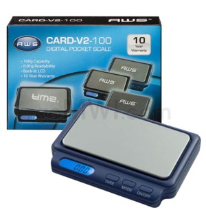 AWS CARD-V2 -100 100g x 0.01g Scales- Blue
