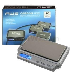 AWS CARD-V2-600 600 x 0.1g Scales- Gray