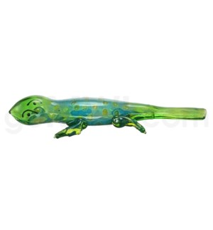 "DISC Animal pipe 4"" Green Lizard"