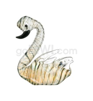 "DISC  Animal pipe 5"" Swan"