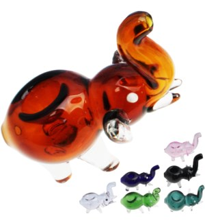 "C/T 4"" Elephant Animal pipe Assorted colors"