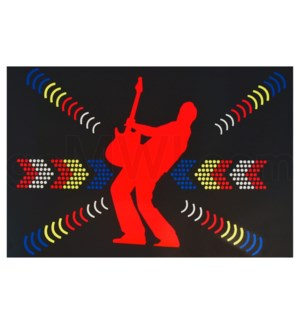 DISC T Shirts LED-Guitar (L)