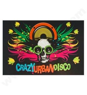 DISC T Shirts LED-Crazy Urban Disco (2XL)