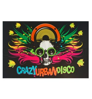 DISC T Shirts LED-Crazy Urban Disco (L)