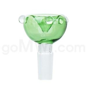 GOG 14mm Male Bowl w/ Tri-Marbles-Green