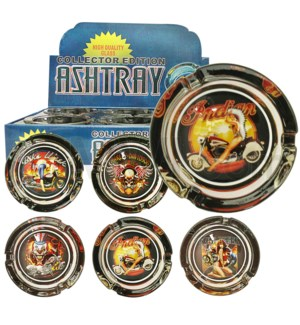 Ashtray Glass Display Lady 6/6/36