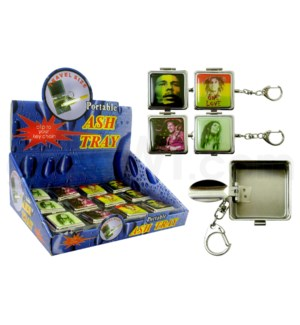 DISC Bob Marley portable Ashtray  w/key chain 36 per bx