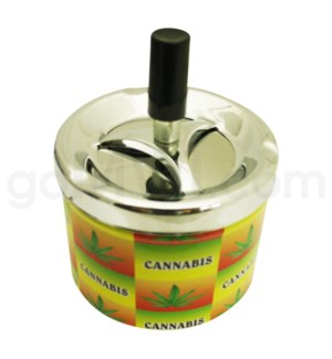 DISC Ashtray Push down Leaf Design