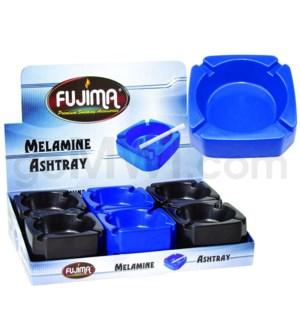 Fujima Square Melamine Ashtray Asst Colors 12PC/BX 20bx/cs