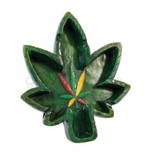 Ashtray Polystone 6.25' Leaf