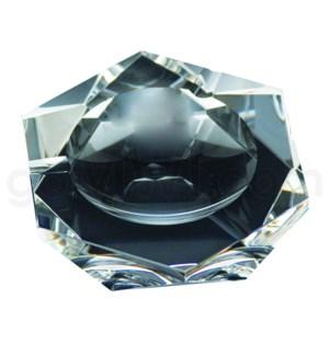"""Ashtray 4"""" Clear Crystal Hexagaon Shaped 24/cs"""