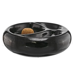 DISC Ashtray Ceramic Pipe Holds 2 Pipes