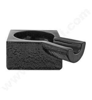 "DISC Glass Cigar Ashtray 5.75"" Black"