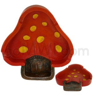 Ashtray Polystone Mushroom Shape 48/cs