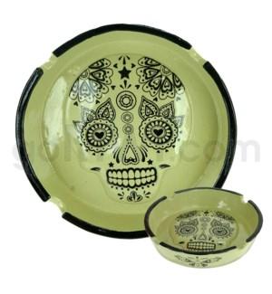 Ashtray Polystone Skull Bone 48/cs