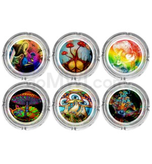 Glass Ashtray 6CT Display - Mushroom 1