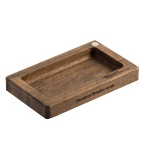 "Beamer Pocket 6"" x 3.5"" Natural Bamboo Rolling Tray"