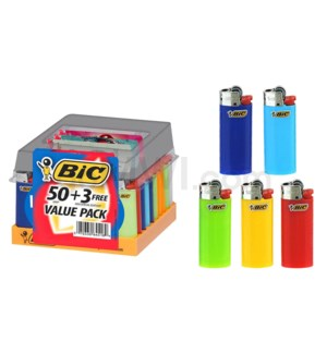 BIC Disposable Mini Lighter 53CT/BX