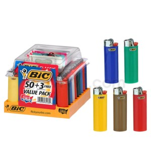 BIC Disposable Regular Lighter 53CT/BX