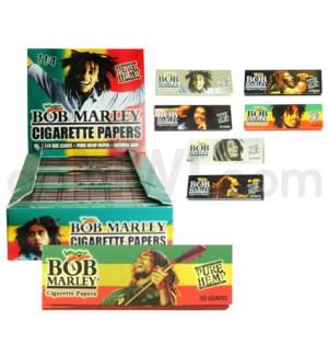 Bob Marley Rolling Paper 1.25  50/pk 25ct/bx 24/cs