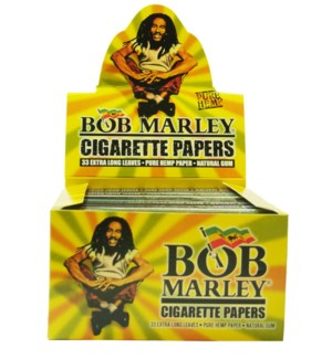 Bob Marley Rolling Paper Extra Long Leaves 33/pk 50bx