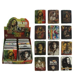 Bob Marley Leather Cigarette Case 100's 12PC/BX