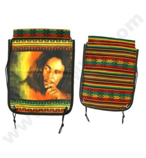 "DISC  Back Packs 16"" Bob Marley Hand & Head"